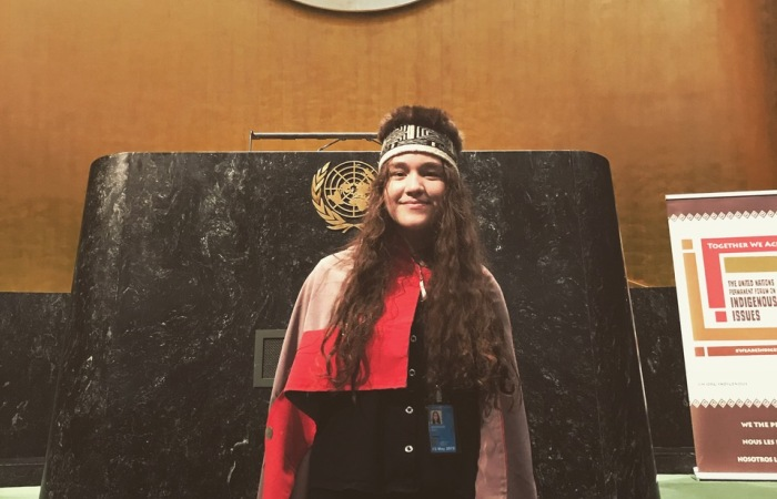 Haana Edenshaw at the UN Permanent Forum on Indigenous Issues 2019